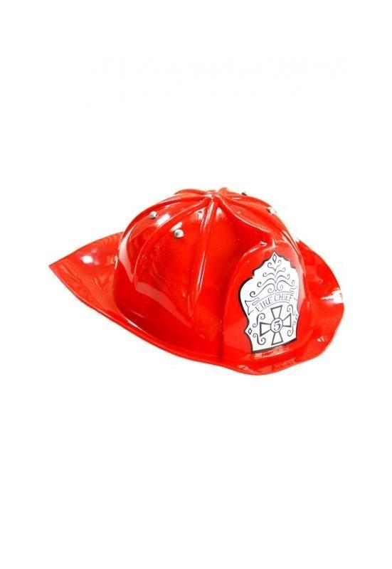 BAMBINO Elmetto Pompiere Casco cappello Vigili del Fuoco. In plastica  antiurto. Per gioco imitare in costume con elmo i fantastici Pompieri a8738ff9e4c6